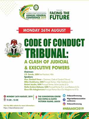 #NBA AGC: Daudu, SAN, Ozekhome, SAN, Rotimi Jacobs, SAN, Adegboruwa, Ors To Feature At Debate On Code Of Conduct Tribunal