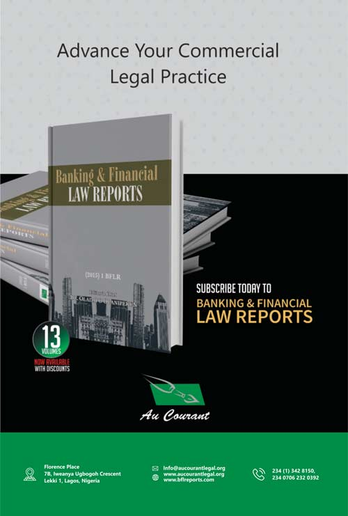 Banking and Financial Law Reports (BFLR)—Order now!!!